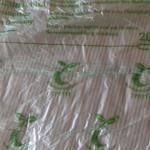 Szemeteszsák a komposztálhatóság termékjelével